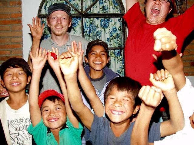 Mas, John, and the kids at FVH