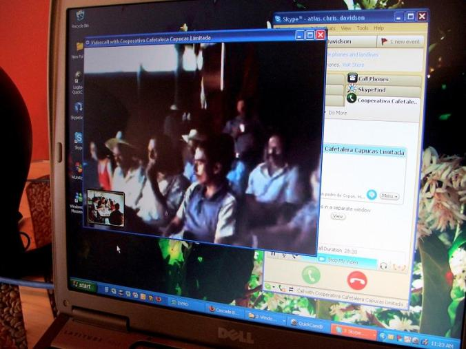 The farmers of Capucas watch, and are being watched, live via the internet!